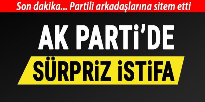 AK Parti'de sürpriz istifa...