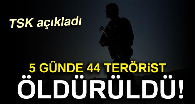 Zap'ta 5 günde 44 terörist öldürüldü!