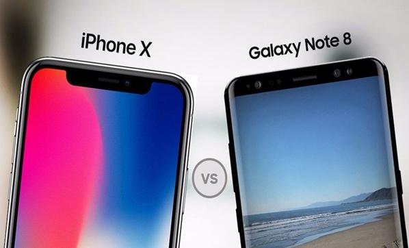 Galaxy Note 8 iPhone X'e karşı