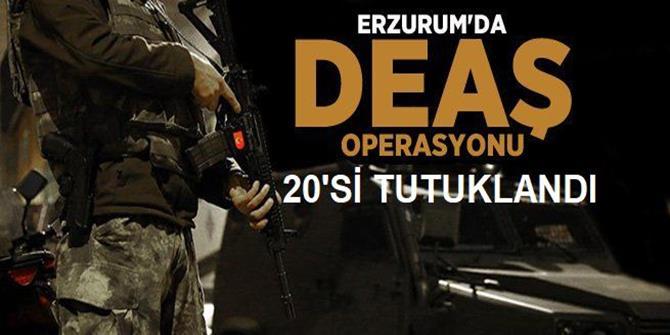 Erzurum'da 20 DEAŞ'lı tutuklandı