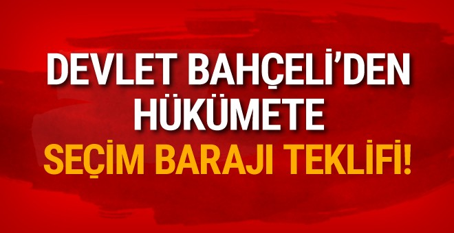 Bahçeli: 'Yüzde 10 barajı Türkiye için çok ağır'