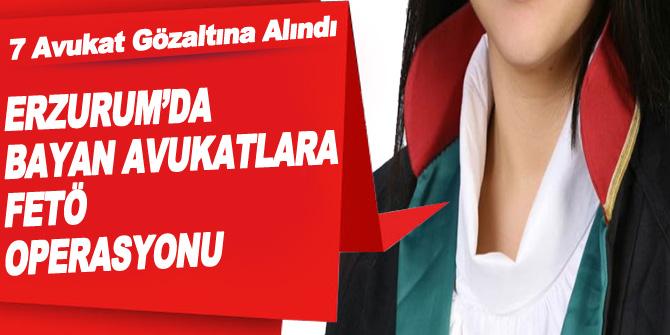 Erzurum'da 7 Avukat Fetö'den Gözaltına Alındı
