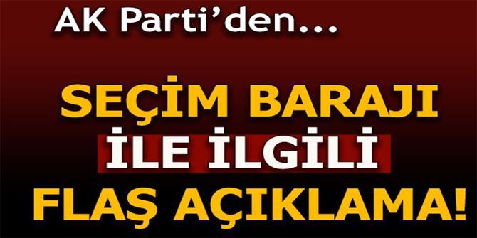 AK Partili Hayati Yazıcı'dan seçim barajı ile ilgili flaş açıklama