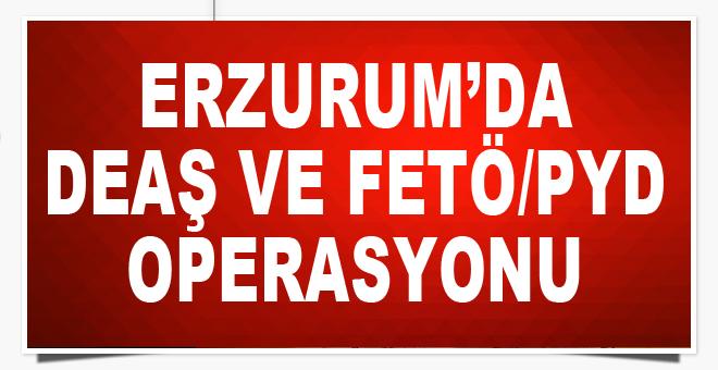 Erzurum'da DEAŞ ve FETÖ/PYD operasyonu