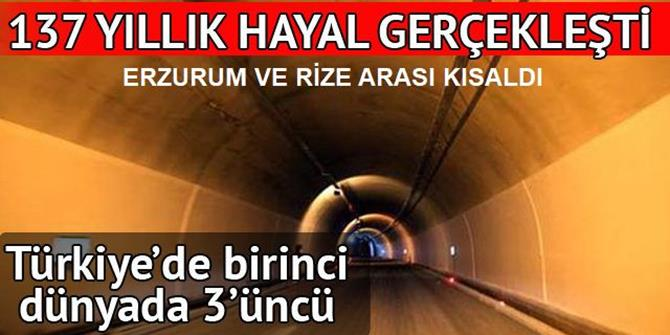 137 yıllık hayal gerçekleşti; Ovit Tüneli ulaşıma açıldı