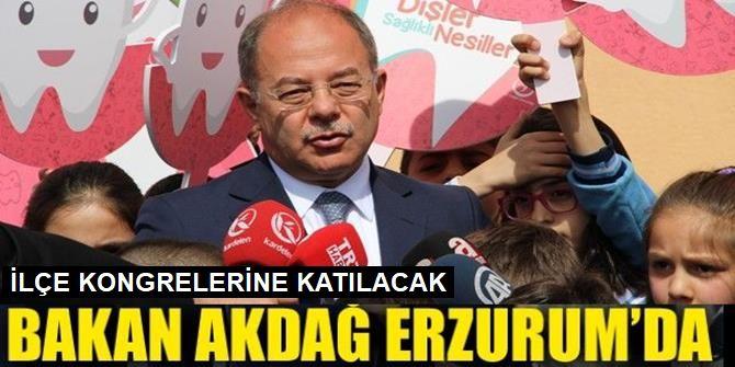 Bakan Akdağ Erzurum'da