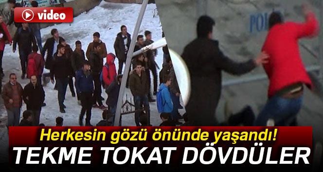 Erzurum'da liseliler liseli dövdü