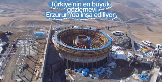 Türkiye'nin İlk Yerli Gözlem Evinin İnşaatı, Havadan Görüntülendi