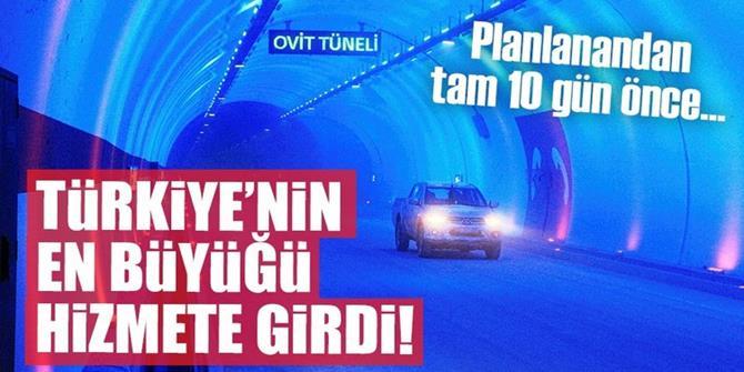 Türkiye'nin en büyük tüneli olan Ovit Tüneli hizmete girdi