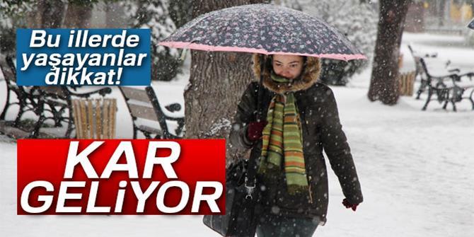 Meteoroloji'den kar yağış uyarısı