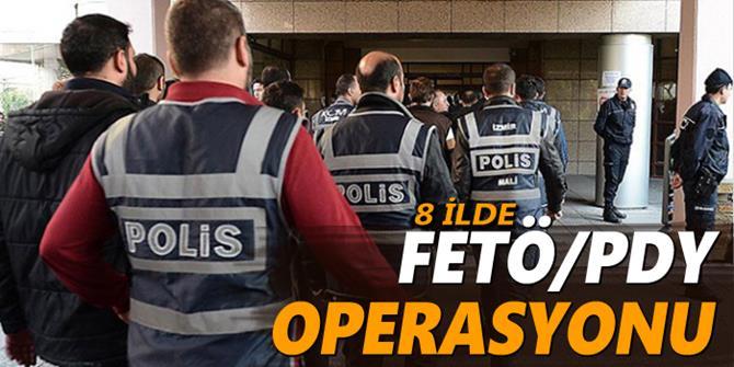 8 İlde FETÖ Operasyonu