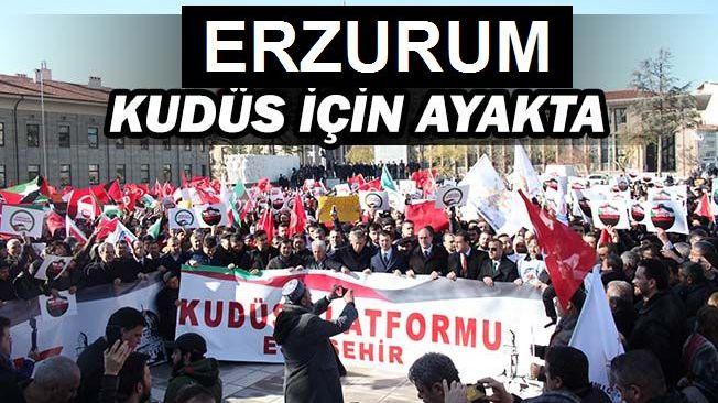 Erzurum'da 20 Bin Kişi Kudüs İçin Yürüdü