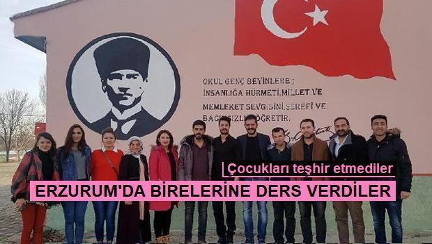 Erzurum'da teşhirsiz yardım