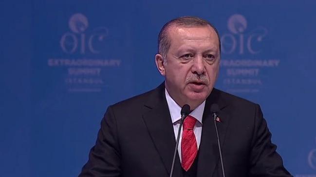 Erdoğan: Tüm dünyayı başkenti Kudüs olan Filistin'i tanımaya davet ediyorum