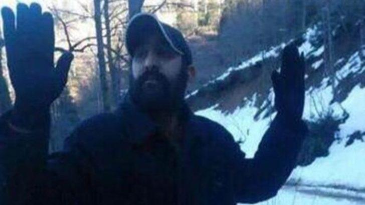 İşte PKK'lı teröristin teslim olduğu anın fotoğrafı