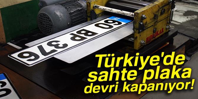 Türkiye'de sahte plaka devri kapanıyor
