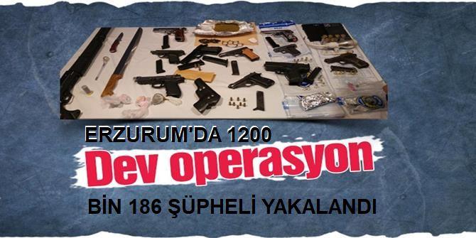 """""""Bin 200 operasyonda bin 186 şüpheli yakalandı"""""""