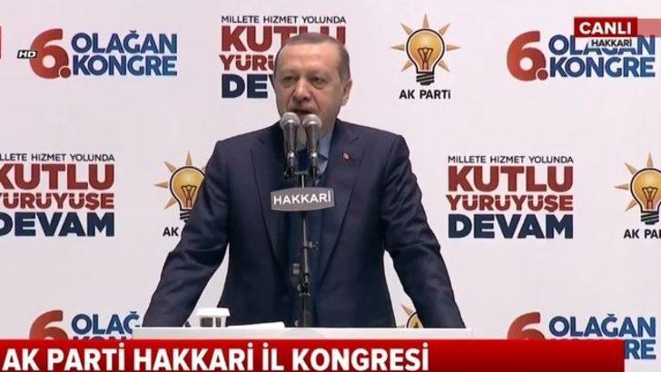 Cumhurbaşkanı Erdoğan Hakkari'de açıkladı: Yasak kalkıyor...