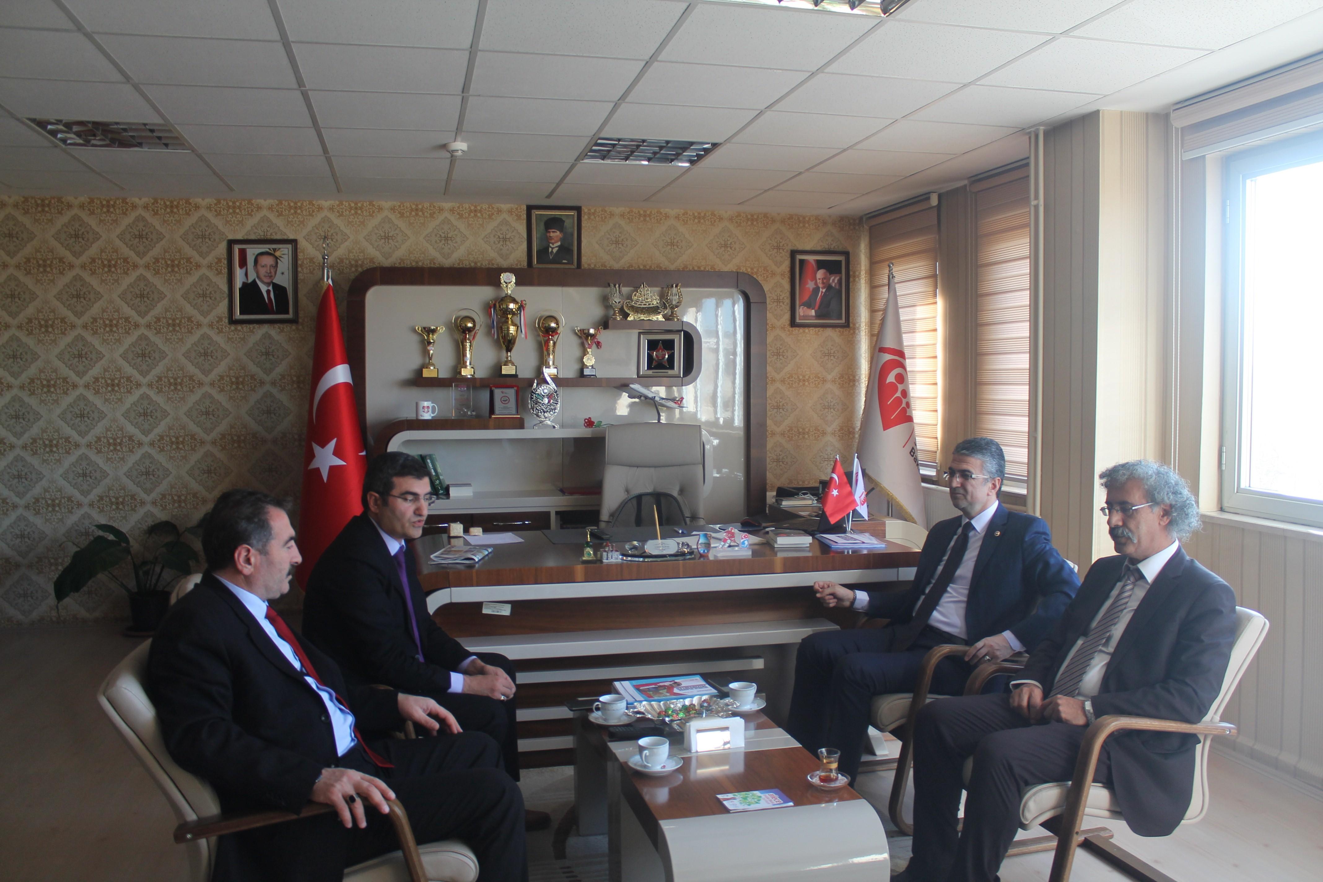 Milletvekili Aydın, ASP İl Müdürlüğünü ziyaret etti