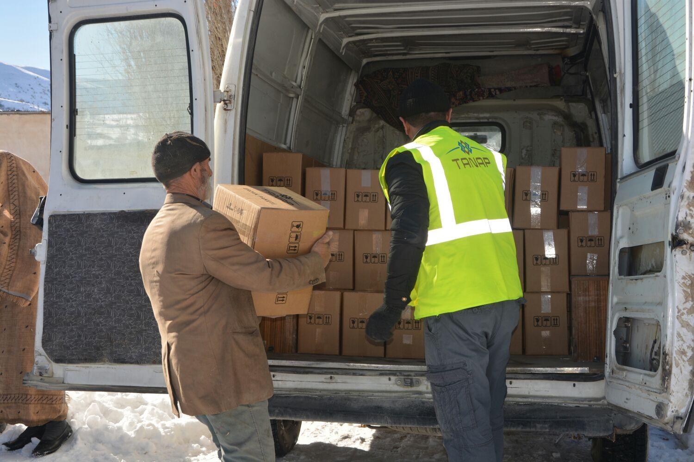 Afetzedelere yardım dağıtıldı