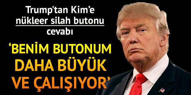 Trump'tan Kim Jong-un'a: Biri ona benim de nükleer silah butonumun olduğunu söylesin!