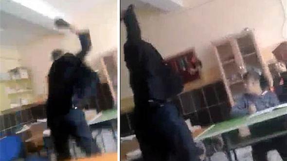Okulda tepki çeken görüntüye flaş gözaltı