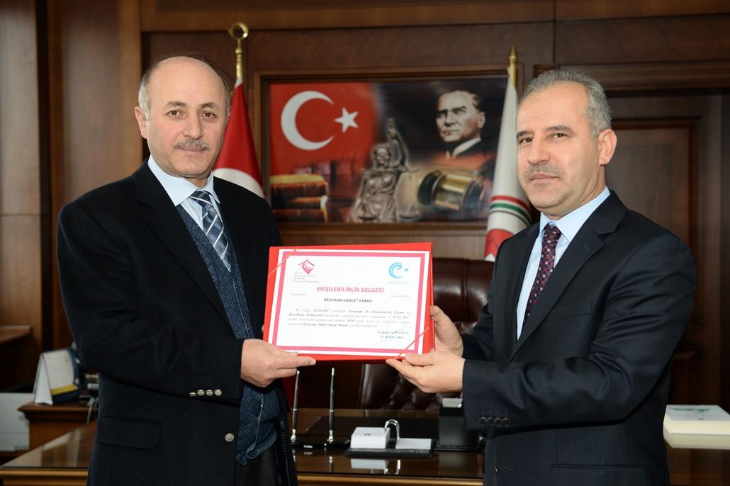 Erzurum Adalet Sarayında, erişilebilirlik başarısı