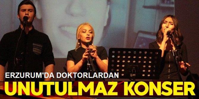 Erzurum'da Doktorlardan 'İnsanlık Konseri'