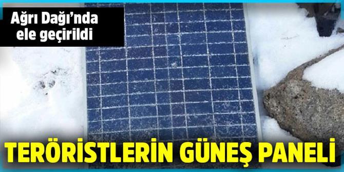Teröristlere ait güneş paneli bulundu