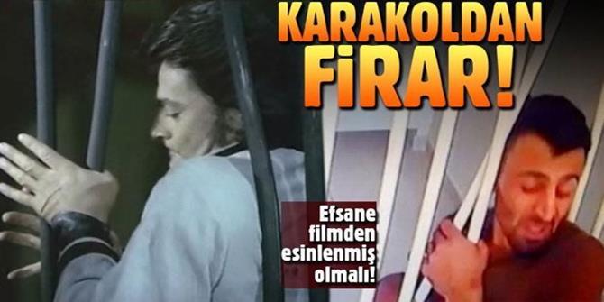 Erzurum'da bir zanlının karakoldan kaçışı filmleri aratmadı