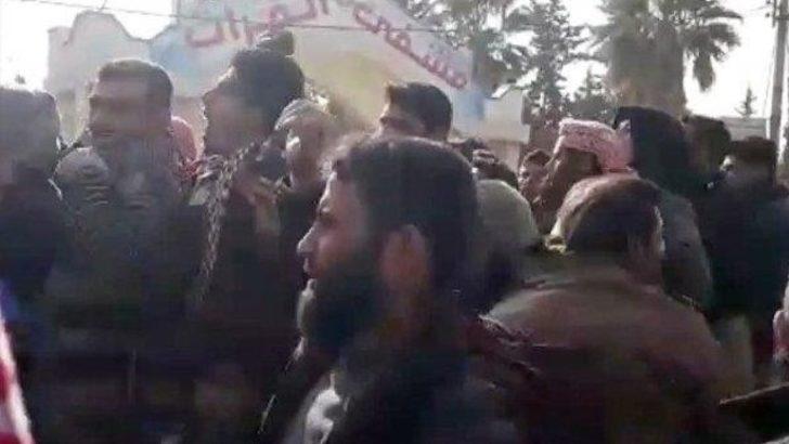 Menbiç'te halk terör PKK'ya karşı ayaklandı