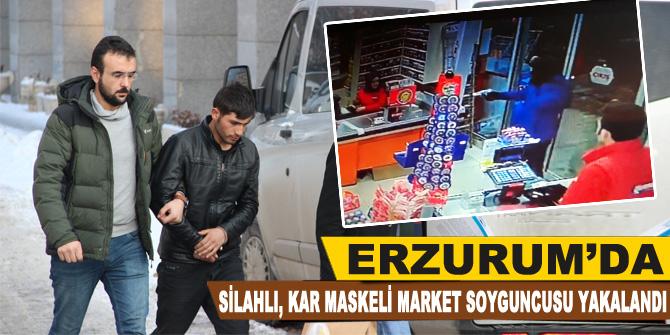 Silahlı, kar maskeli market soyguncusu yakalandı