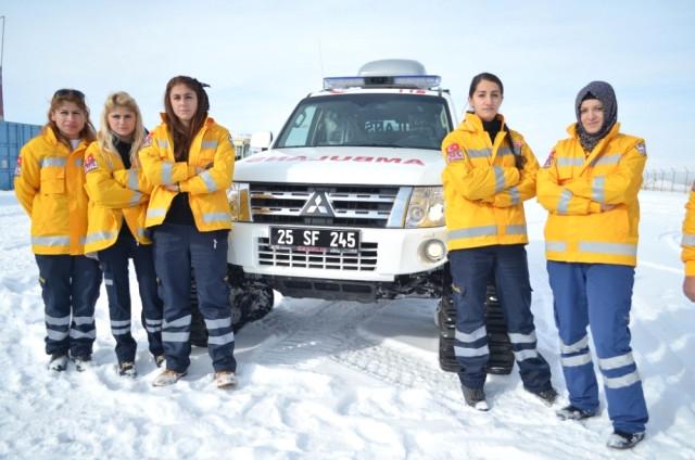 Erzurum'da ekipler kışa hazır