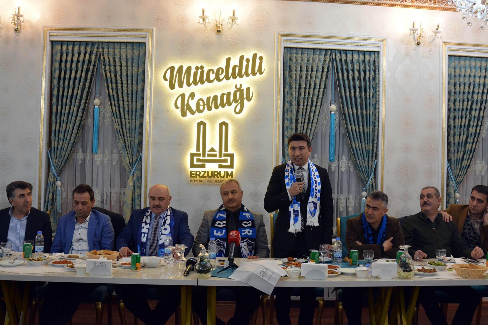 B.B.Erzurumspor'da moral yemeği