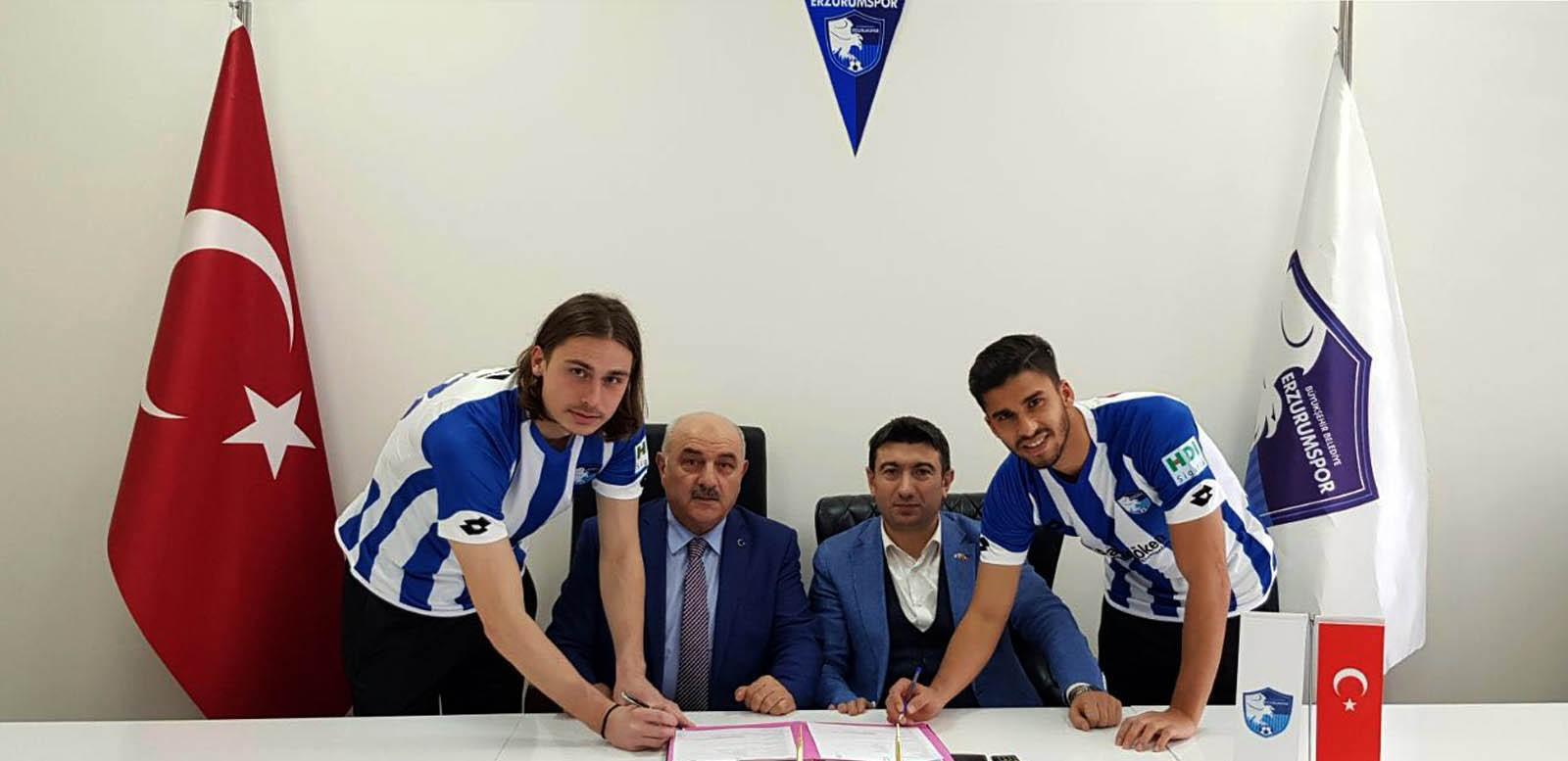B.B. Erzurumspor, Bulucu ve  Yüksel ile sözleşme imzaladı