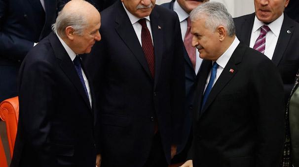 Başbakan Yıldırım ve MHP lideri Bahçeli bu akşam görüşecek