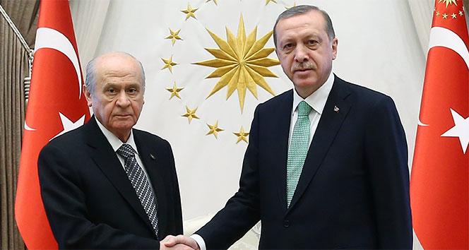 Cumhurbaşkanı Erdoğan, MHP lideri Bahçeli ile telefonda görüştü