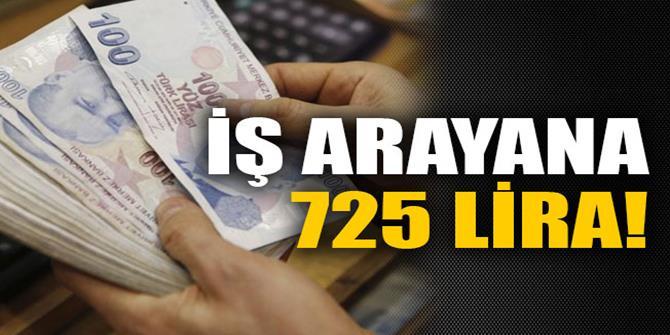 İş arayana 725 lira!