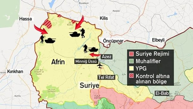 TSK'dan Afrin için yeni cephe