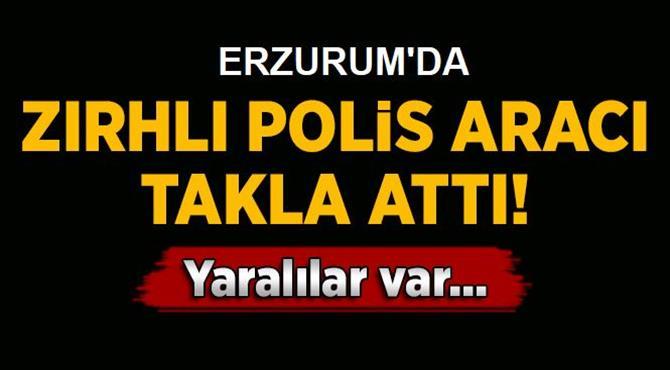 Erzurum'da Zırhlı Polis Aracı Kaza Yaptı: 3 Yaralı