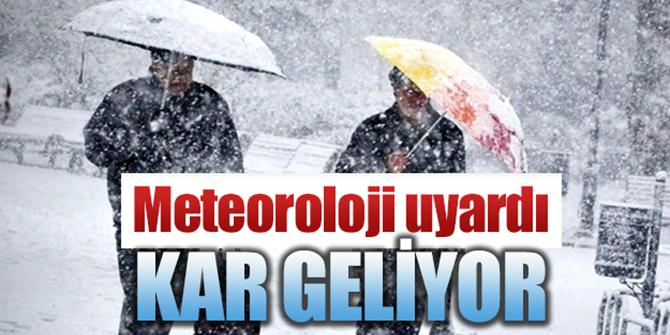 Erzurum ve Erzincan İçin Kar Uyarısı
