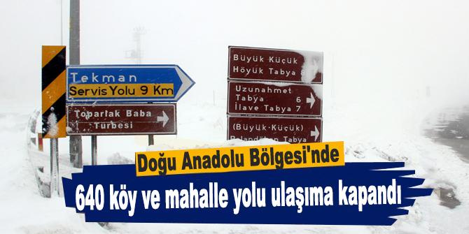 640 köy ve mahalle yolu ulaşıma kapandı