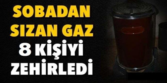 Erzurum'da 8 kişi karbonmonoksit gazından zehirlendi