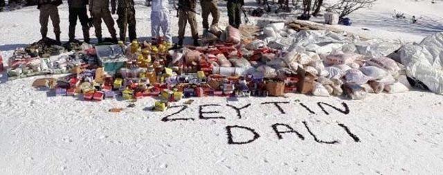 TSK'dan PKK'ya kış darbesi! Tam 1 ton yaşam malzemesi...