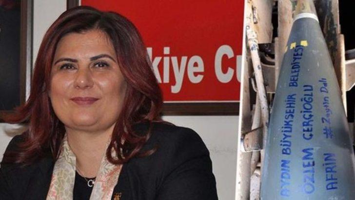Askerler top mermisine CHP'li belediye başkanının lakabını yazdı