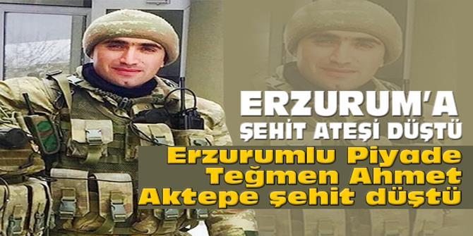 Erzurumlu Piyade Teğmen Ahmet Aktepe Şehit Düştü