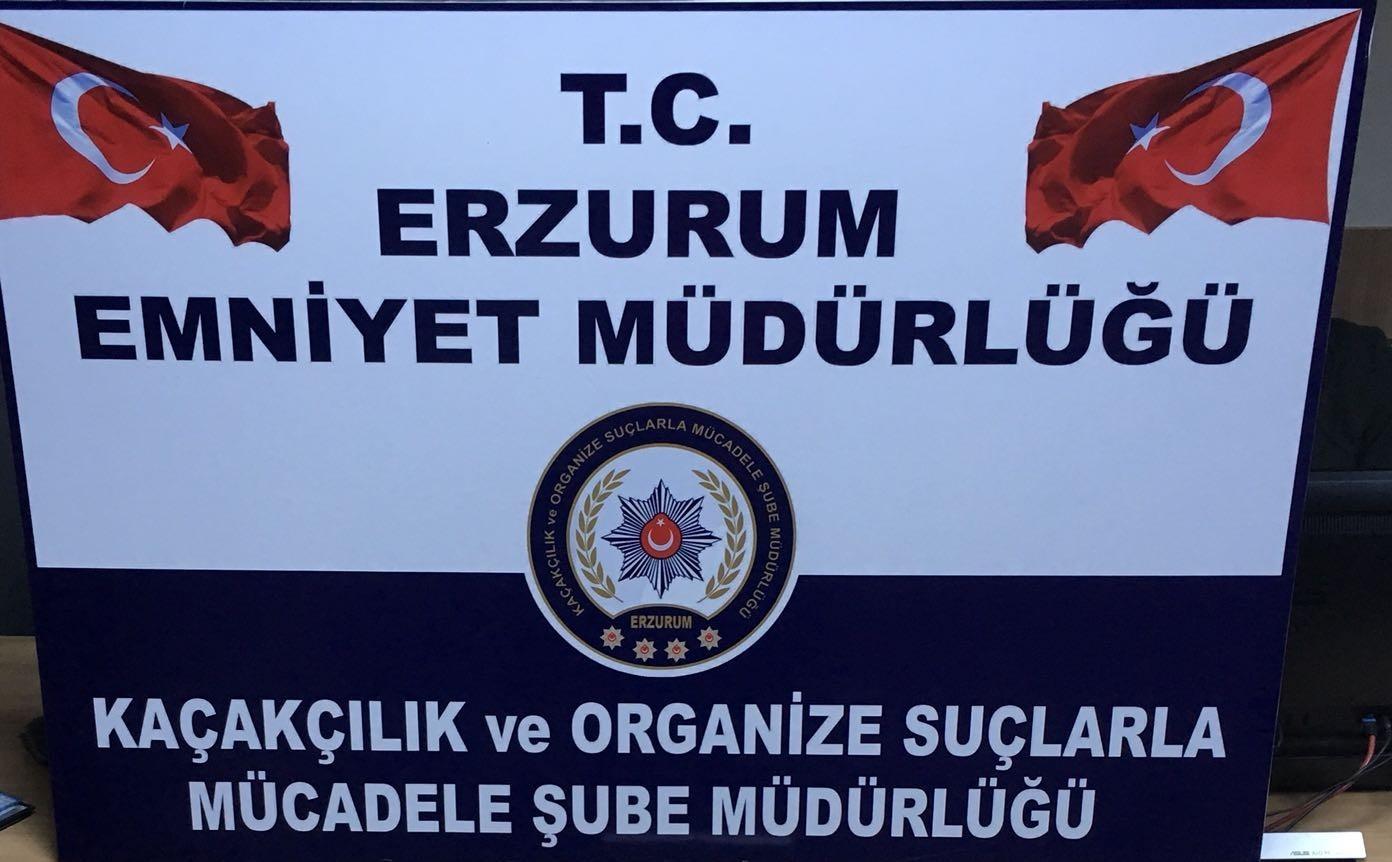 Erzurum'da 9 bin 400 adet tablet ele geçirildi