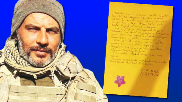 Şehit binbaşının kızından yürek yakan mektup