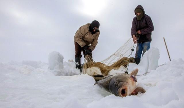 Aşkale'de Buz Kırıp Balık Tuttular