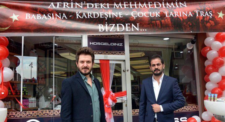Erzurum Afrin'deki Mehmetçiğin Yakınlarına Ücretsiz Tıraş